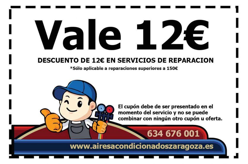Descuento reparación aire acondicionado Zaragoza