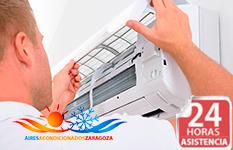 Reparaciones 24 horas de aires acondicionados Acesol en Zaragoza